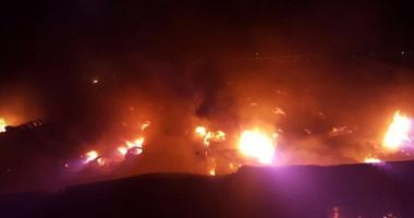 السعودية ..انفجار وحريق فى خزان للوقود بمحطة وقود شمال جدة ...