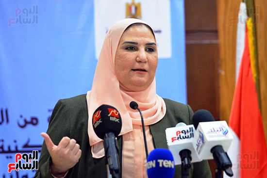 نيفين القباج وزيرة التضامن الاجتماعى (5)