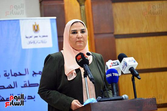 نيفين القباج وزيرة التضامن الاجتماعى (17)