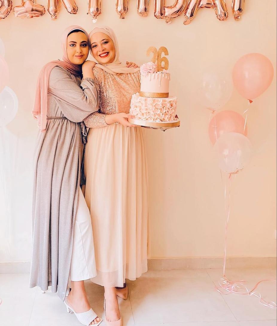 نورهان حسن بفستان زهري للربيع والصيف