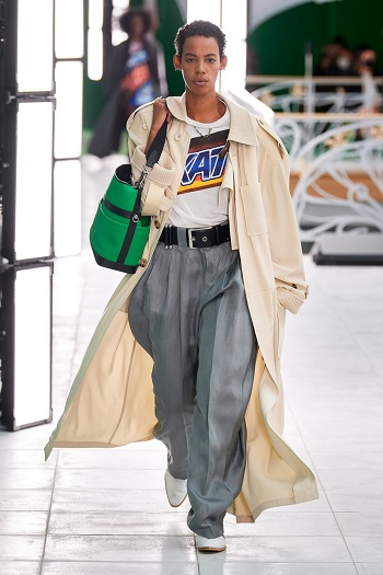Louis Vuitton بنطلون واسع من
